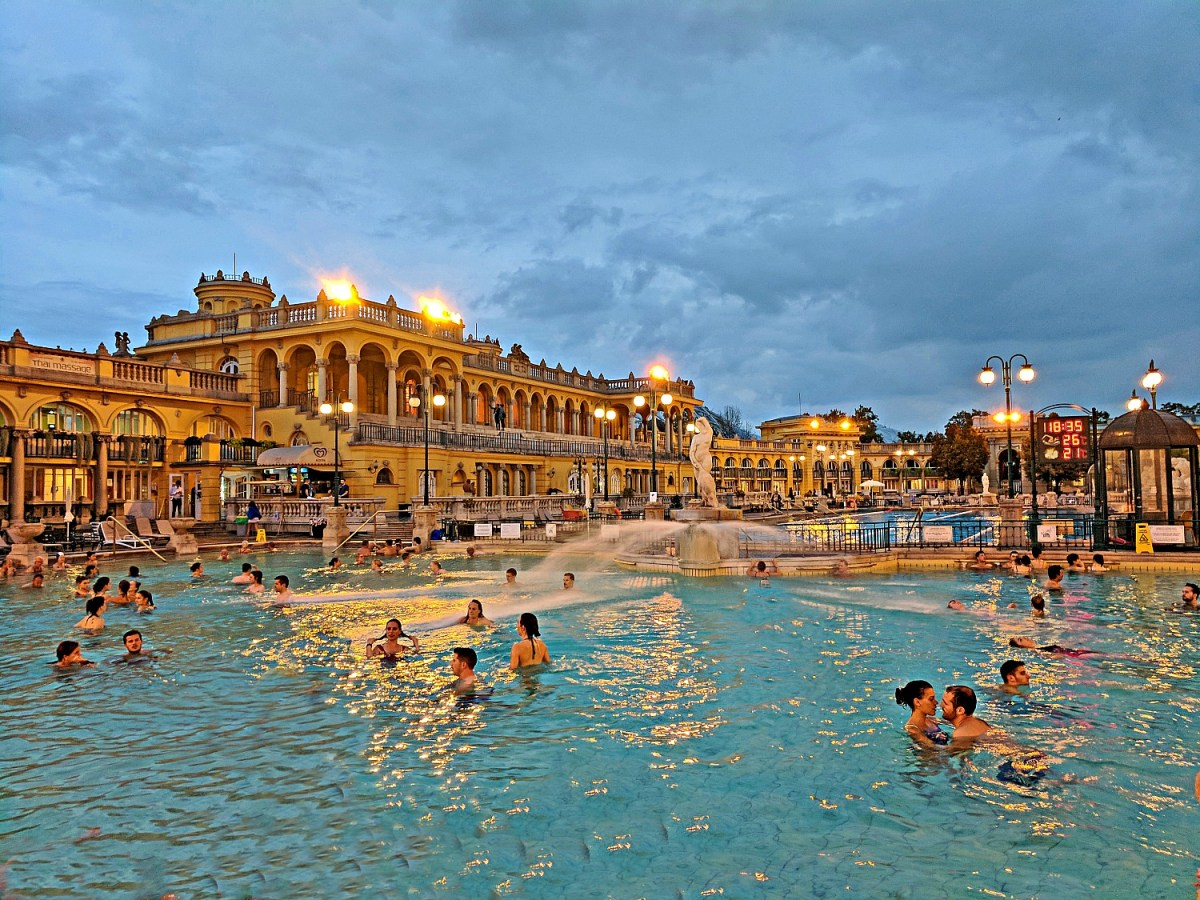 It can't get much better than that in Budapest - Szechenyi Medicinal Bath
