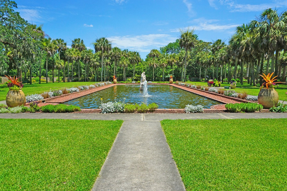 One of many magnificent pools you can find in Brookgreen Gardens.