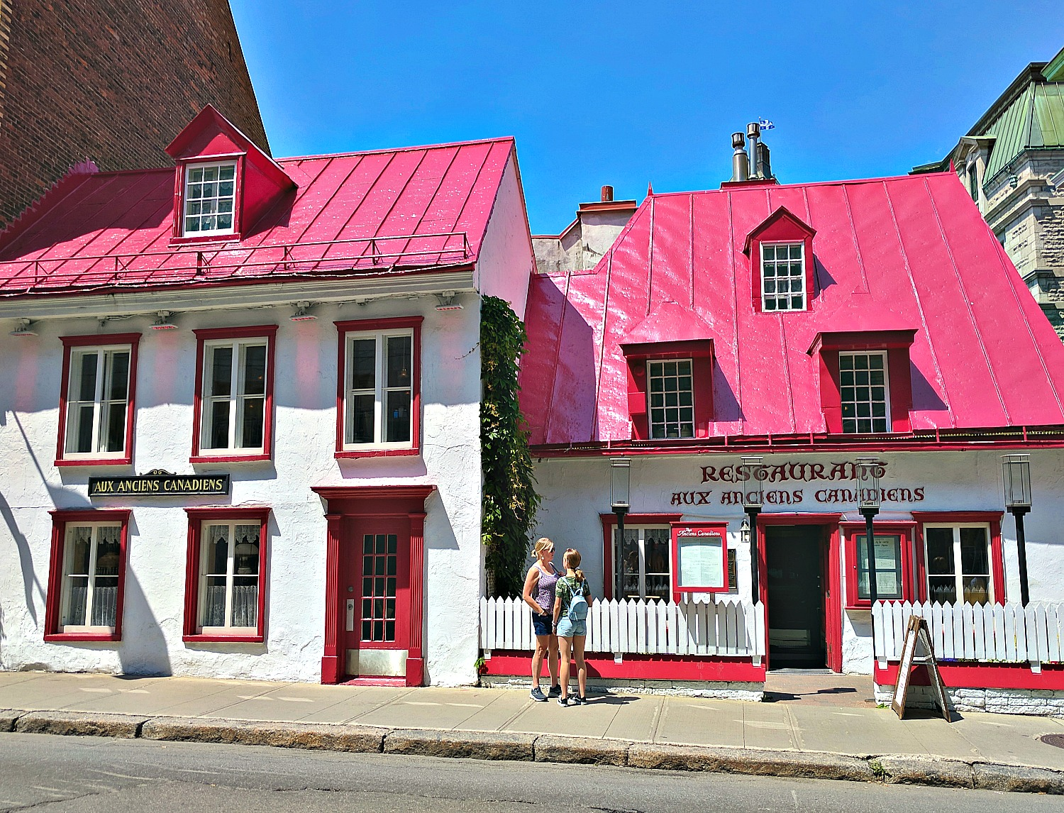 Colorful houses in the Old Town Quebec City.
