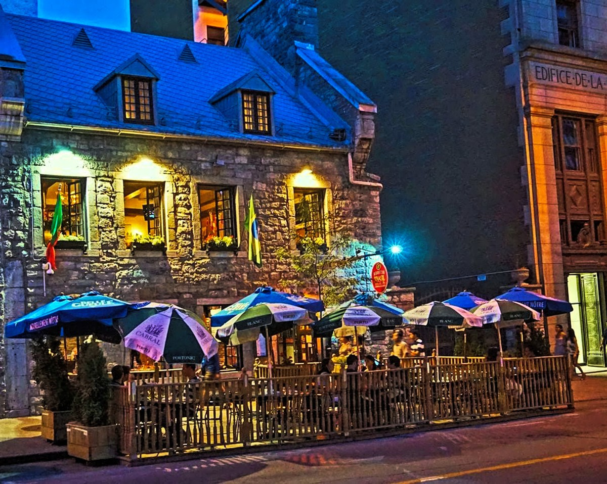 Old Town Montreal becomes even more charming at night.