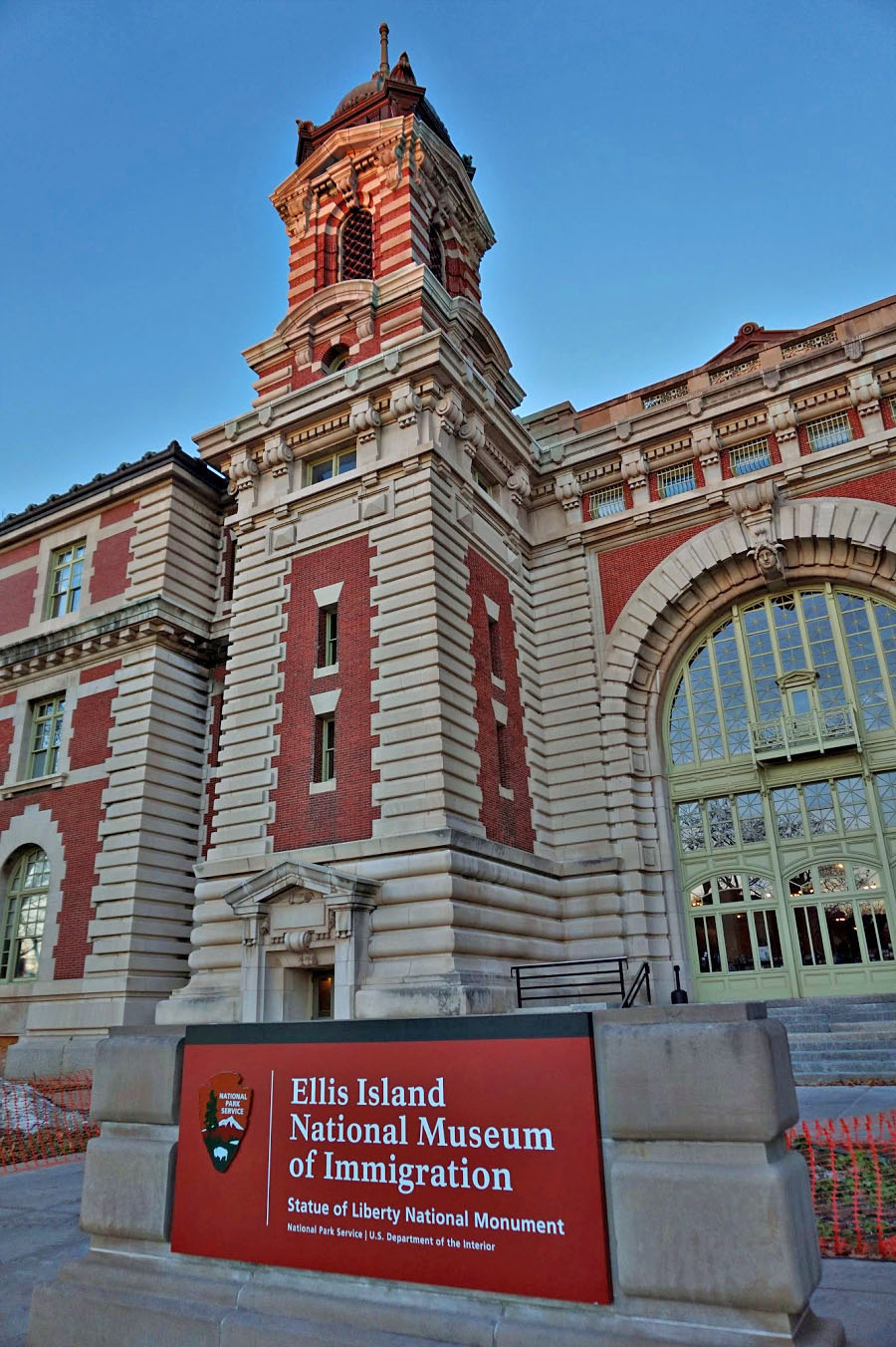Ellis Island and Statue of Liberty can be reached by short ferry ride from Jersey City.