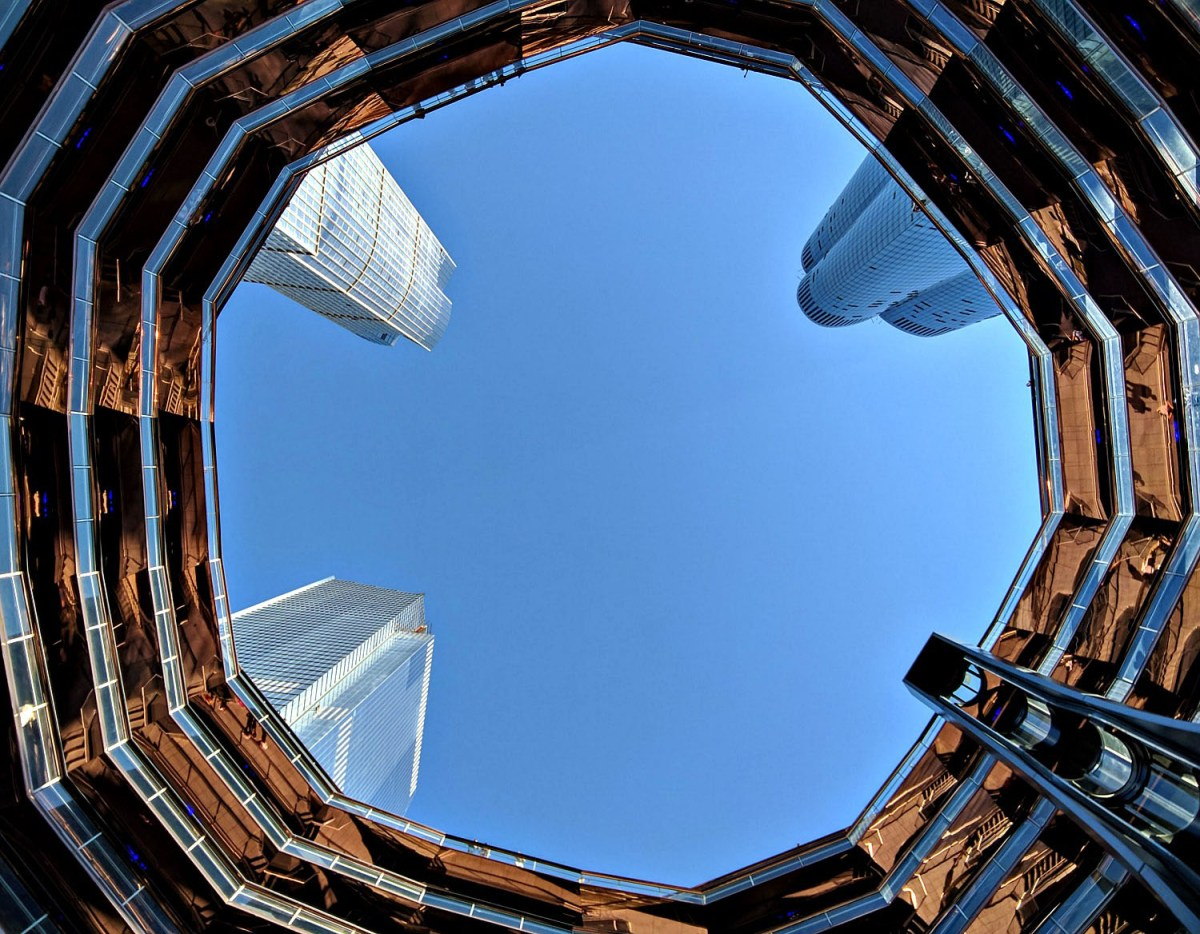 How to visit the Vessel, New York's newest attraction. View from the bottom.