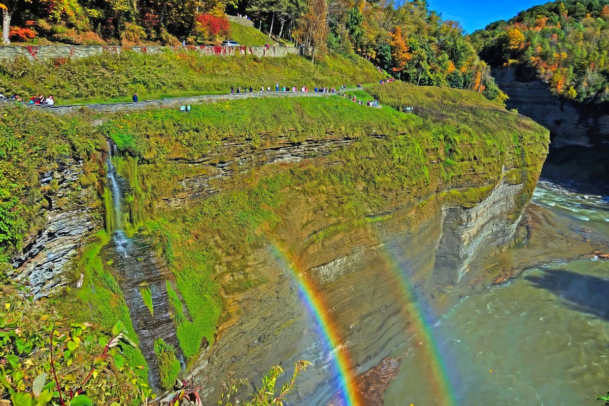 Fall scenery at its best at Letchworth State Park.