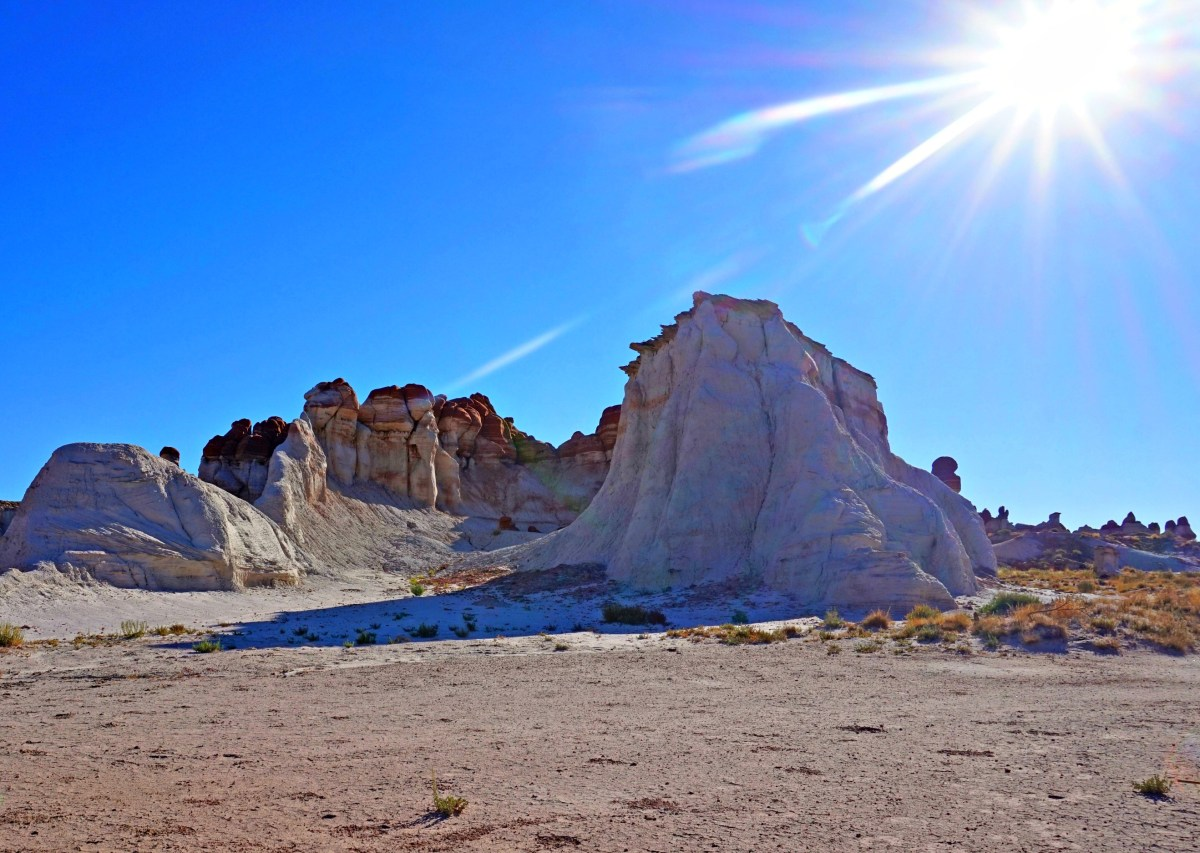 During the summer, the sun is brutal in the Hopi Reservation, even early in the morning.