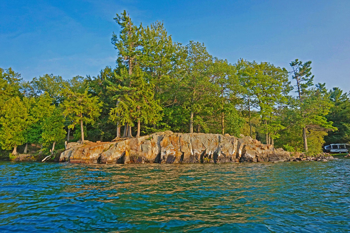 Wellesley Island State Park. St. Lawrence River offers swimming, boating, and fishing and incredible scenry.
