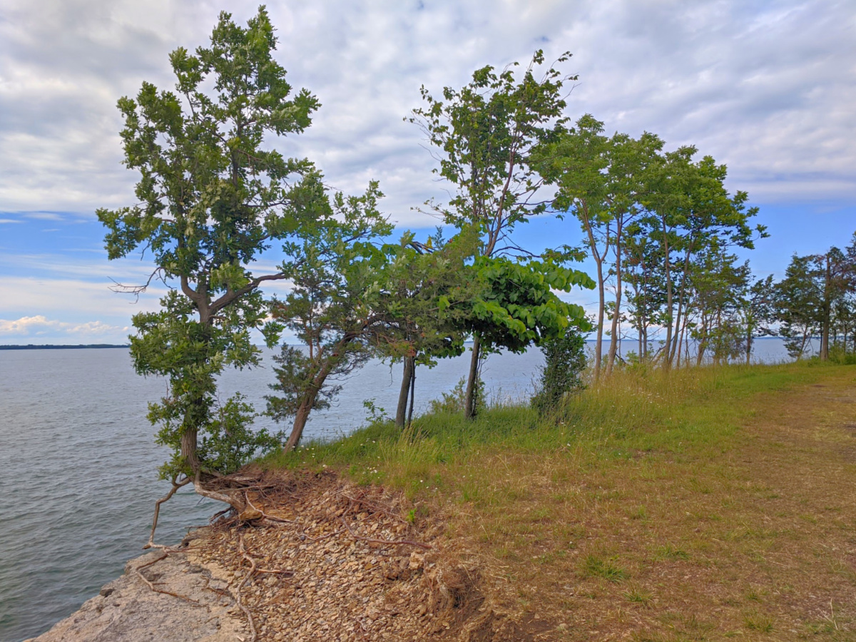 Robert G. Wehle State Park, on the shore of Lake Ontario.