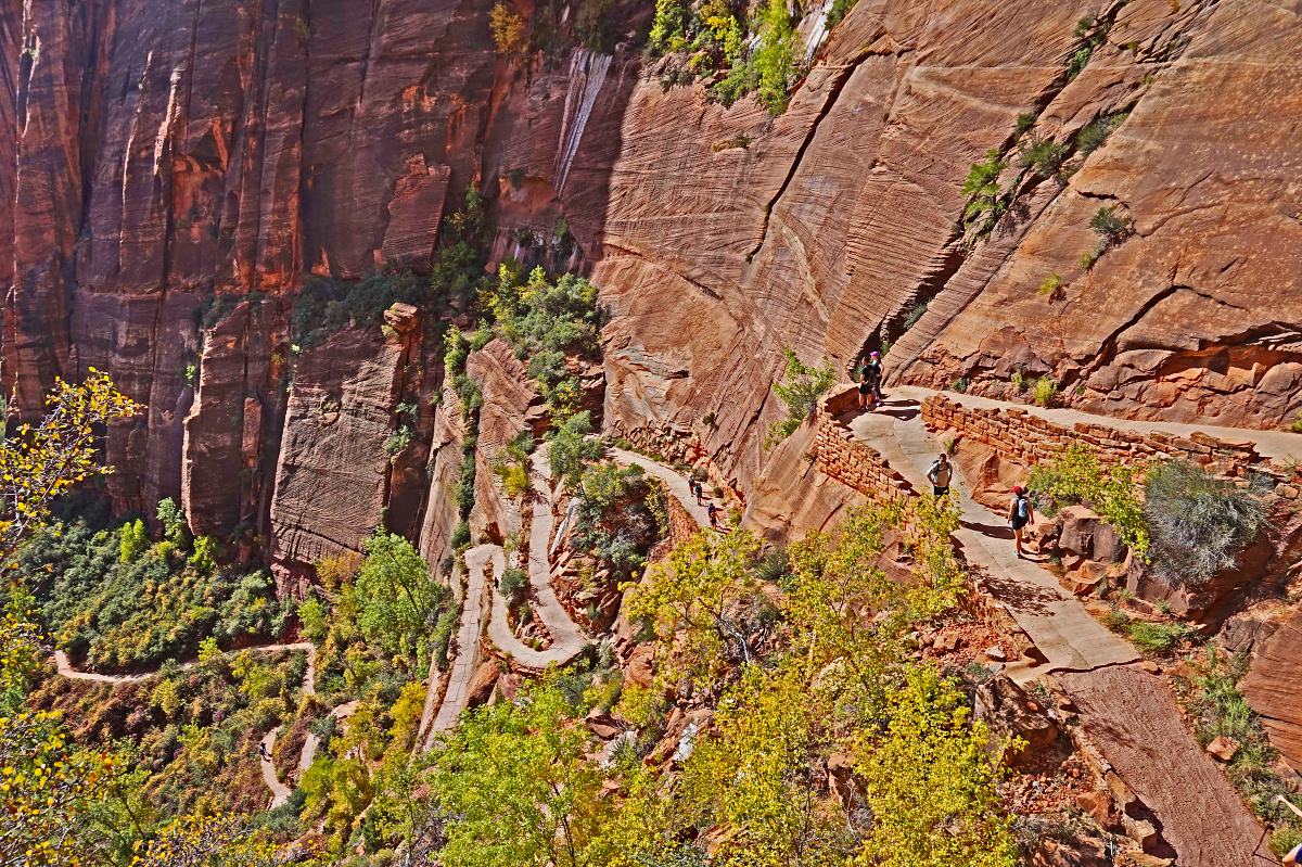 Zion National Park. Climb towards Angels Landing.