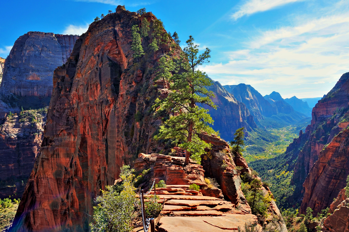 Zion National Park- things to do. Top of Angels Landing Trail.