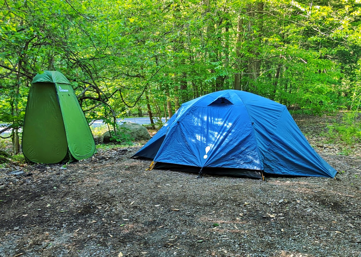 Worlds End State Park- campsite.
