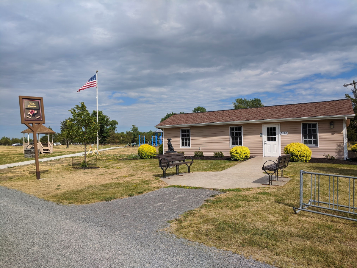 Visitors Center at Robert G. Wehle State Park, New York.