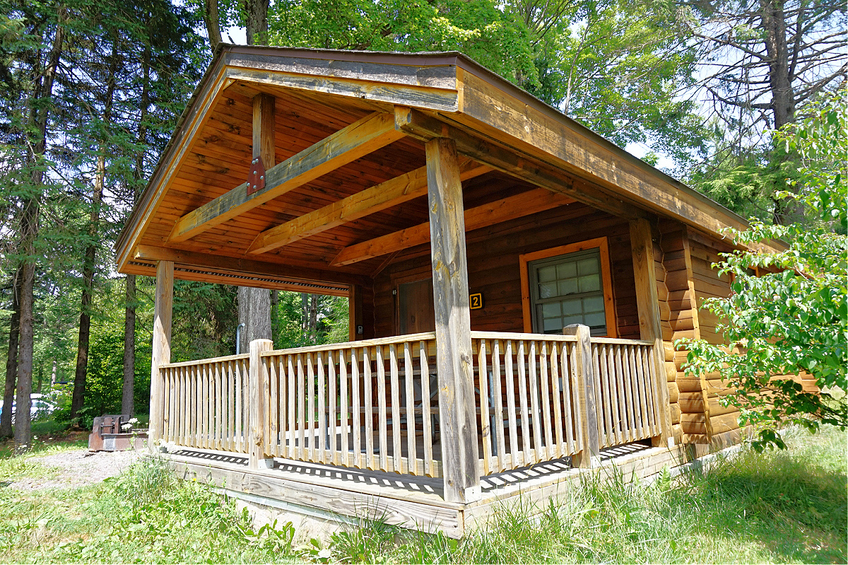 Things to do at Promised Land State Park. Camping cottage.