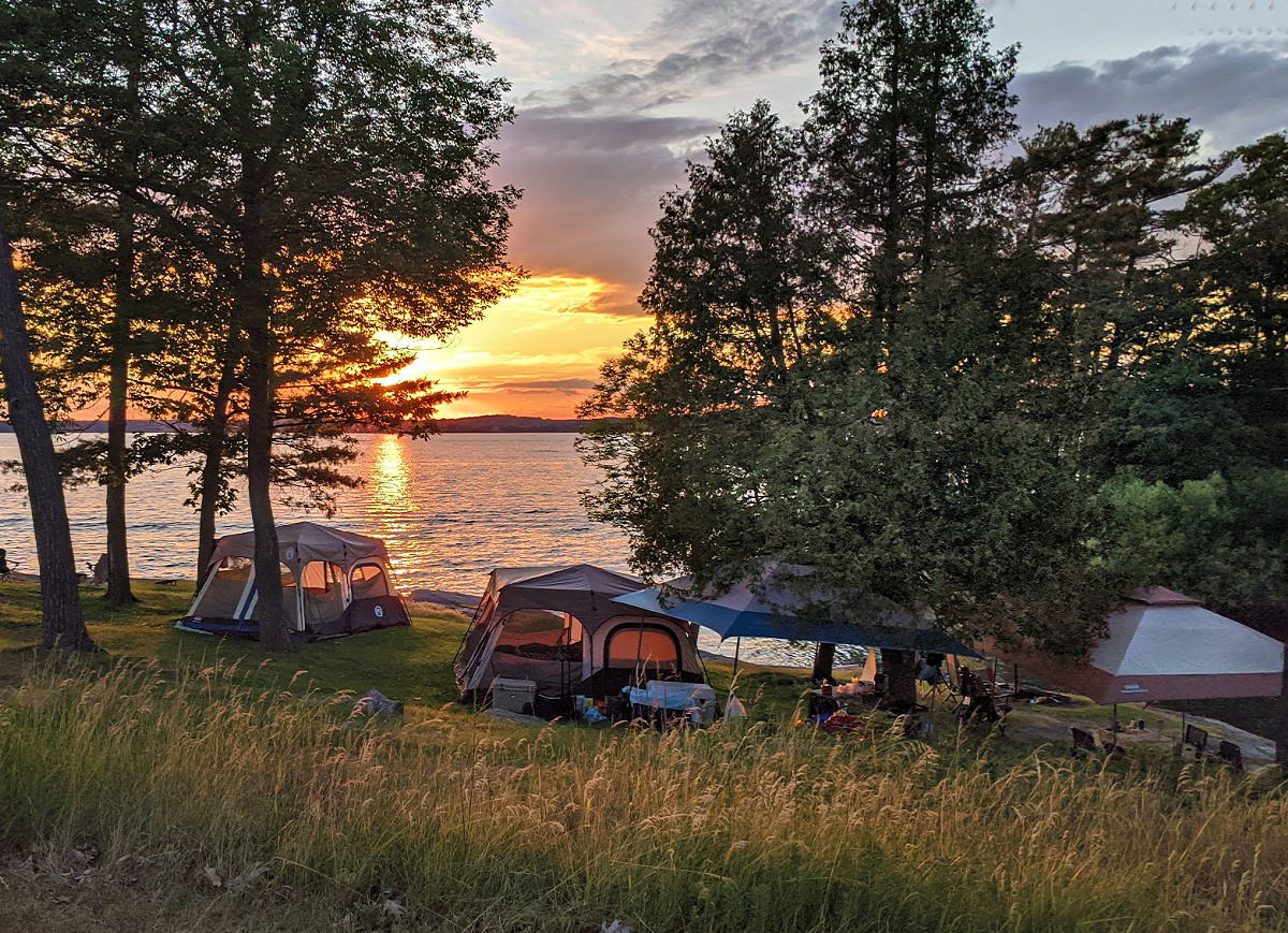 People visit Kring Point State Park for its beautiful campsites.