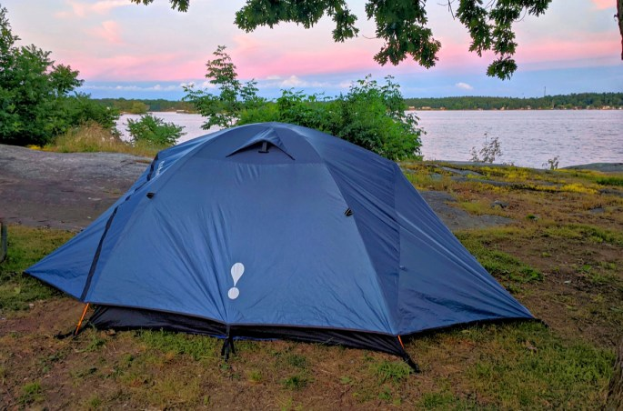 First time camping tips. Ten camping. Pink sunset.