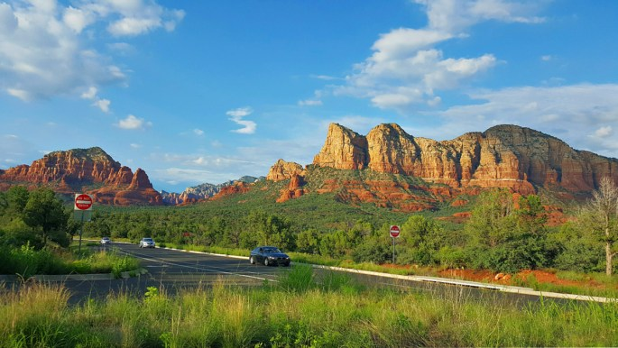 Things to do in Sedona, Arizona. A view from the highway.