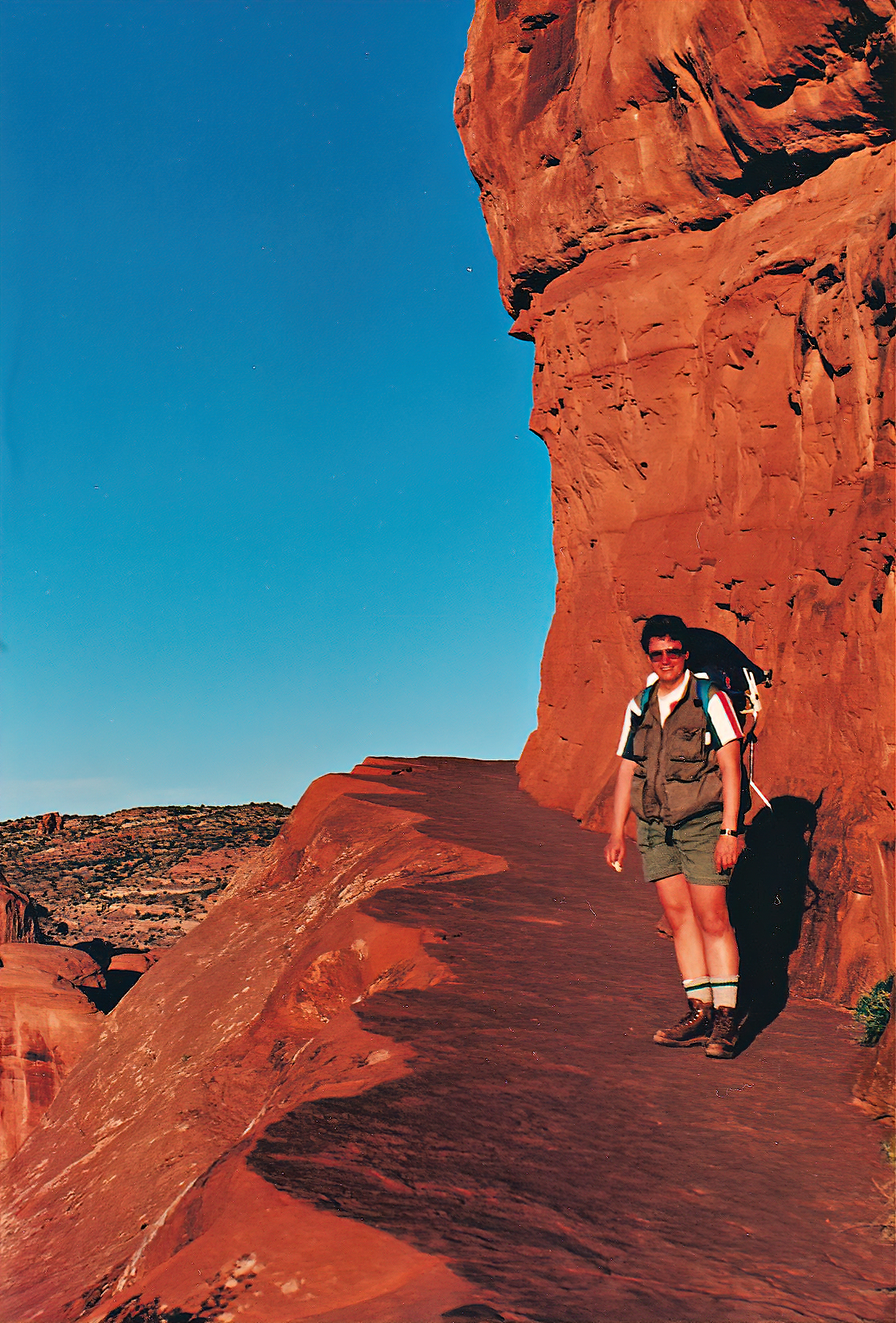Heat and lack of shade make hiking Delicate Arch challenging.
