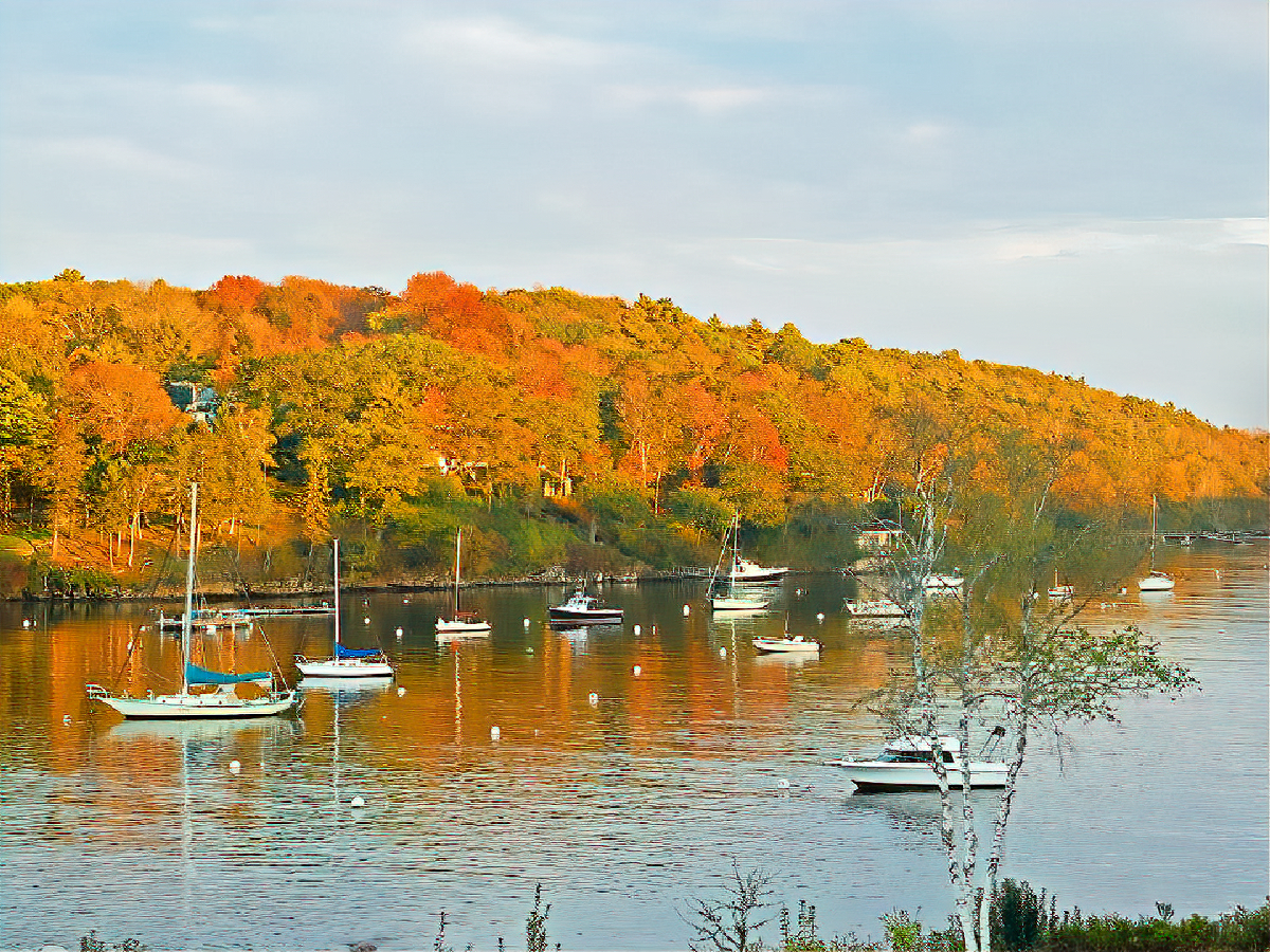 You can also rent some beautiful houses with views like that in Rockport/Camden area of Maine.