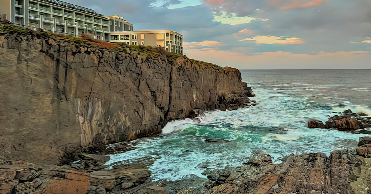 Cliff House Maine. The constantly changing light creates beautiful images throughout the day.