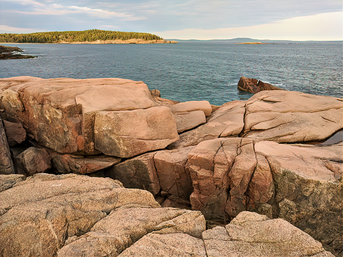 Otter Cliff in Acadia National Park.