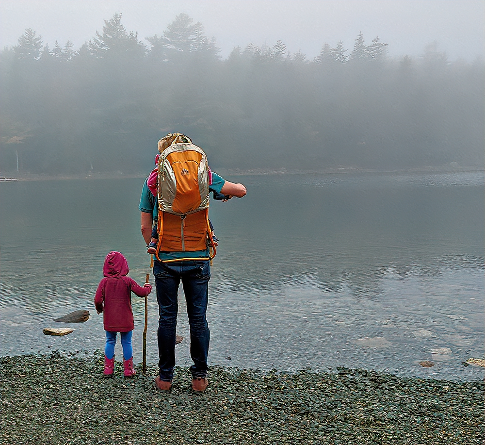 You can find family-friendly hiking at Jordan Pond.
