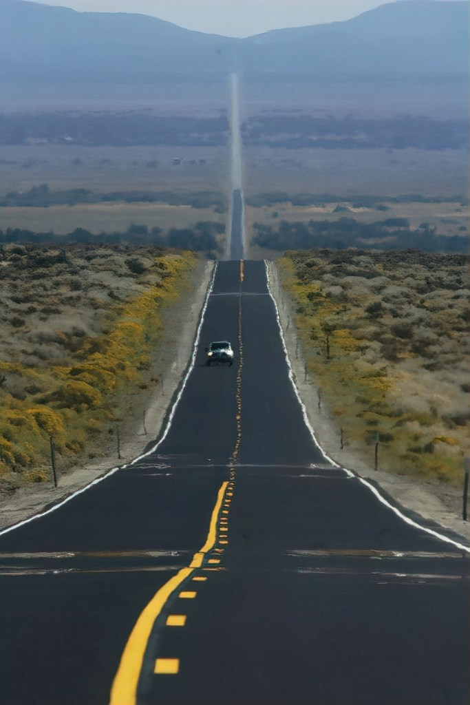 You can see the heat in air when driving in Death Valley.