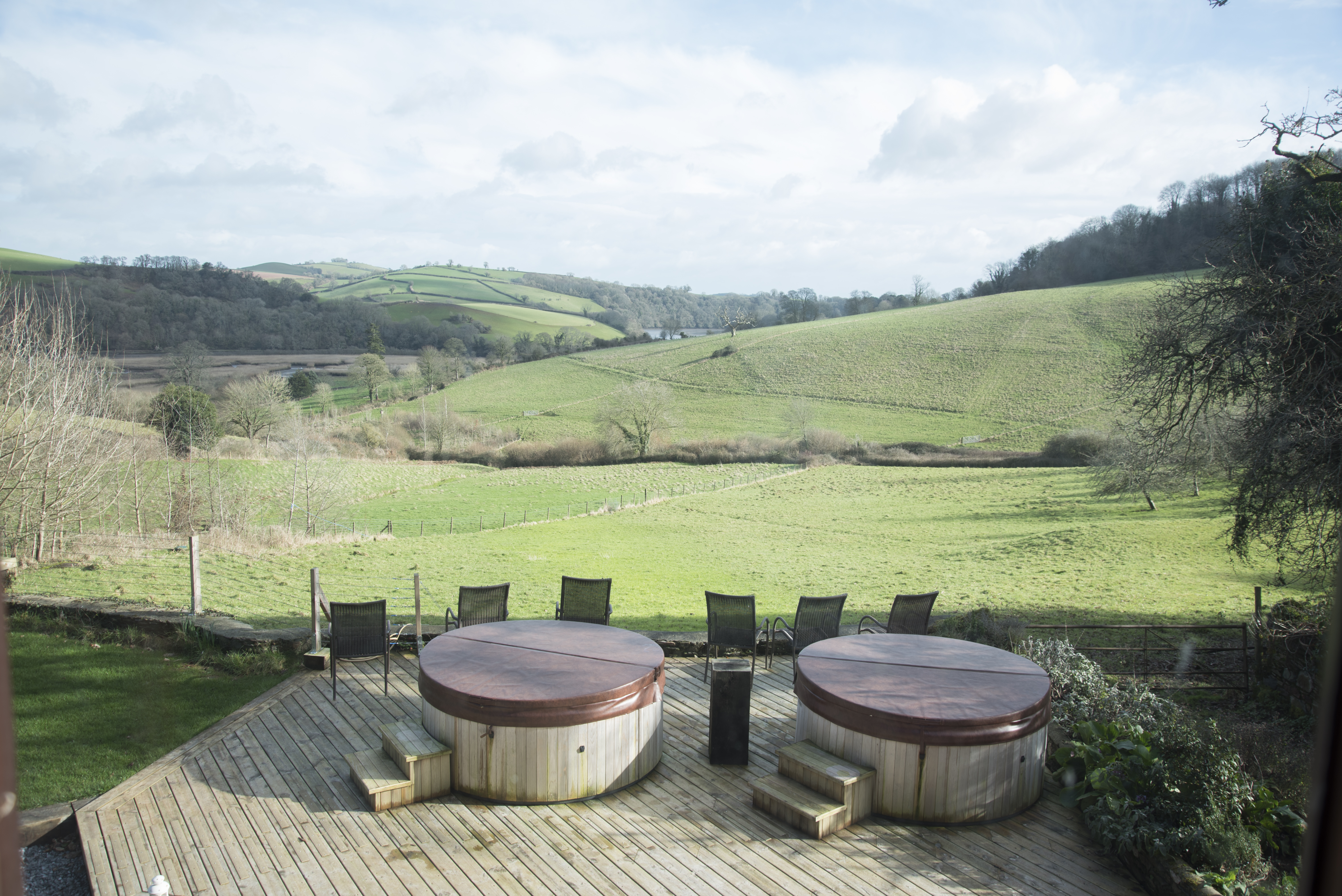 Hot tubs, Devon hills, The Shippon, Sewing retreat