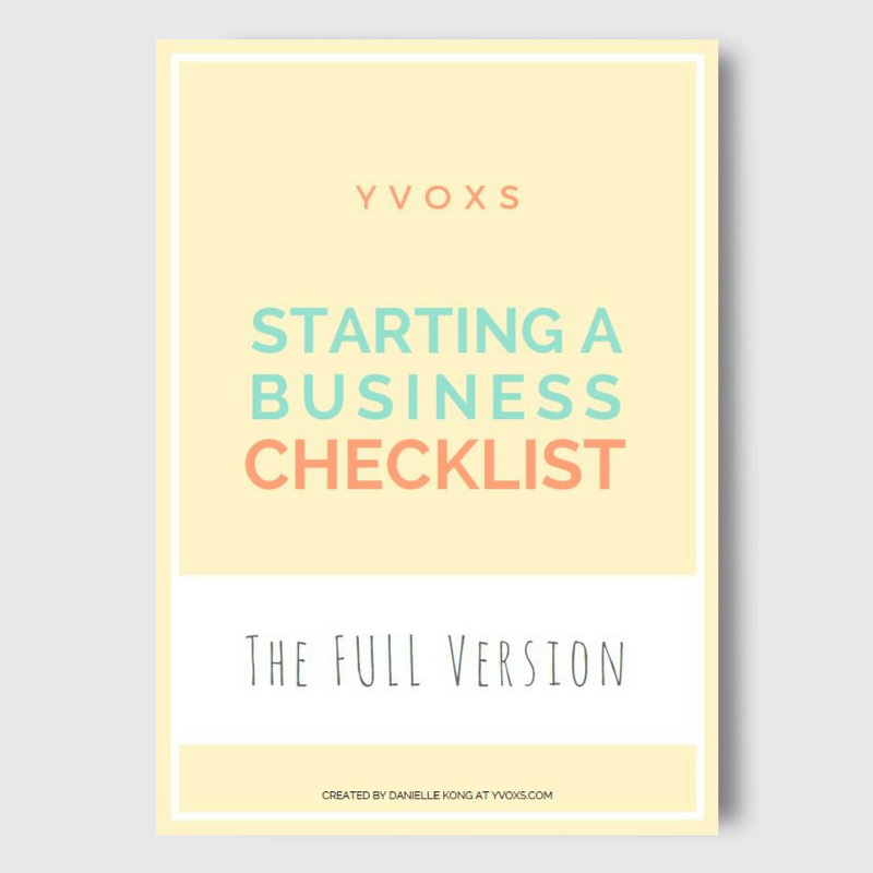 Starting a Business Checklist Workbook Cover YVOXS