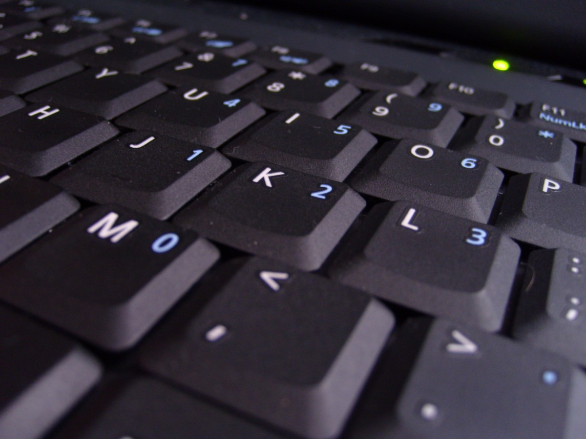 Photo of a laptop keyboard