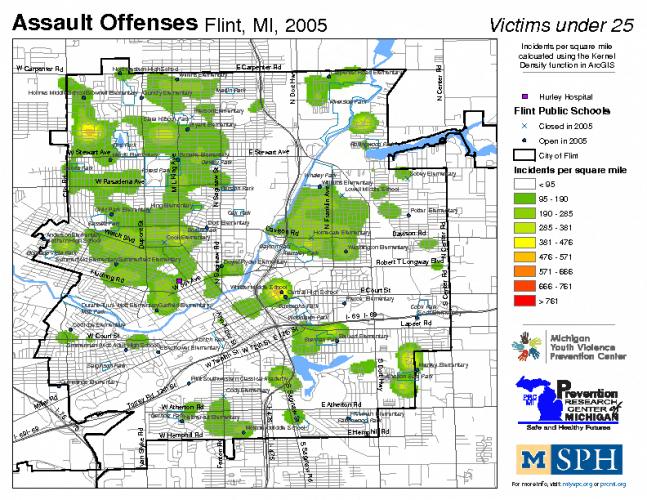 Assault Offenses, Victims under 25 (2005)