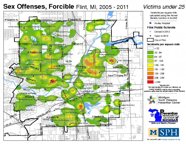 Sex Offenses, Forcible; Victims under 25 (2005-2011)