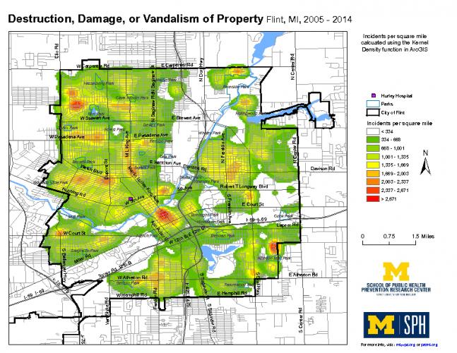 Destruction, Damage, or Vandalism of Property (2005-2014)