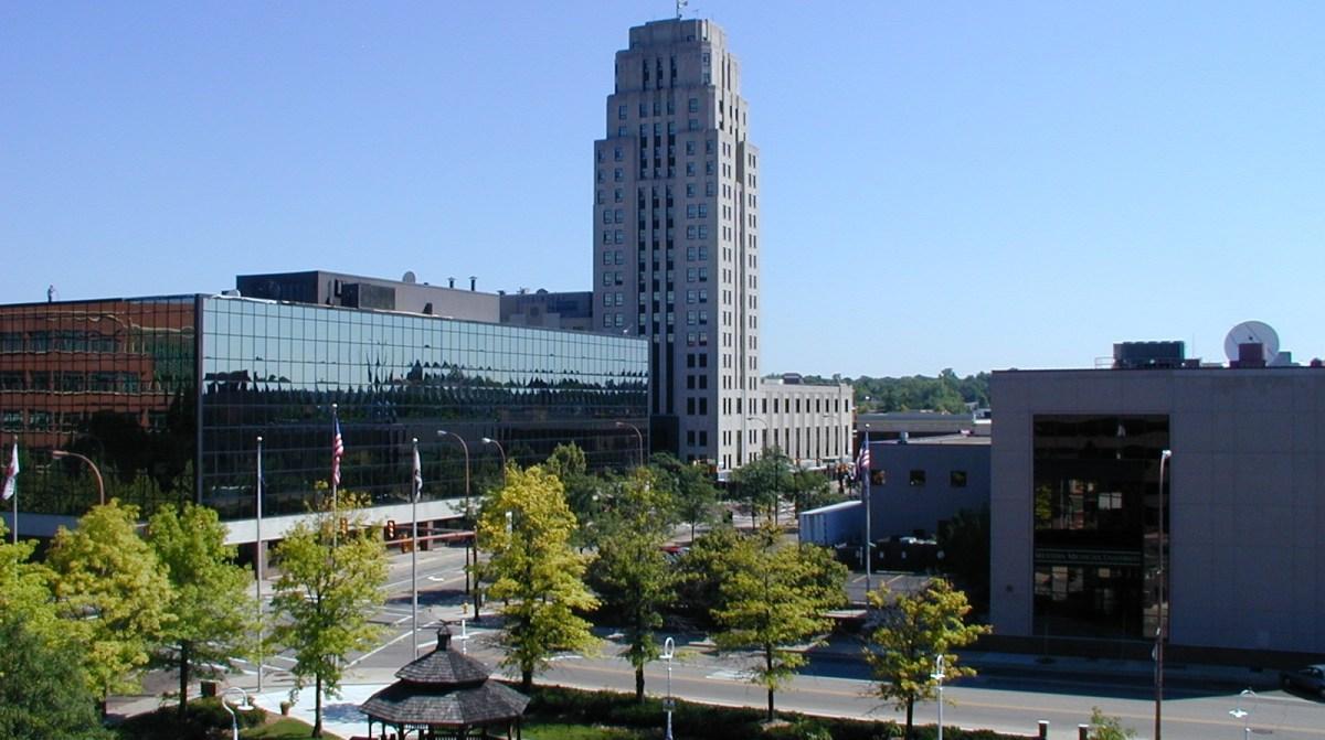 A photo of downtown Battle Creek, MI. 2008