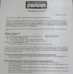 CHILLING ADVENTURES OF SABRINA in Vancouver at Lord Strathcona School