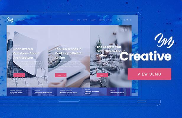 Yvy — Creative Blog/Magazine WordPress Theme