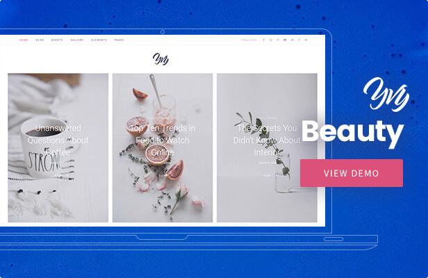Yvy — Beauty Blog/Magazine WordPress Theme