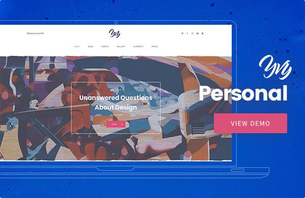 Yvy — Personal Blog/Magazine WordPress Theme