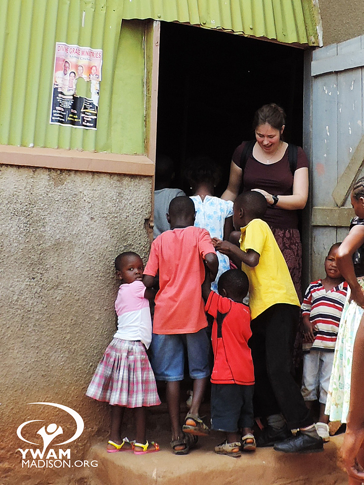 working with kids in Uganda