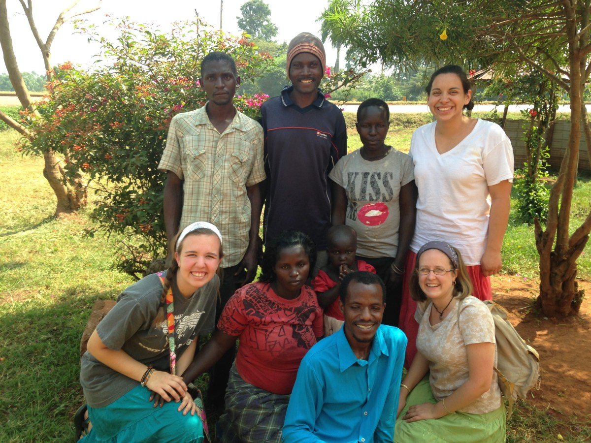 missionaries and new believers in Uganda
