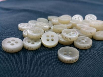 custom logo on side mother of pearl shirt buttons