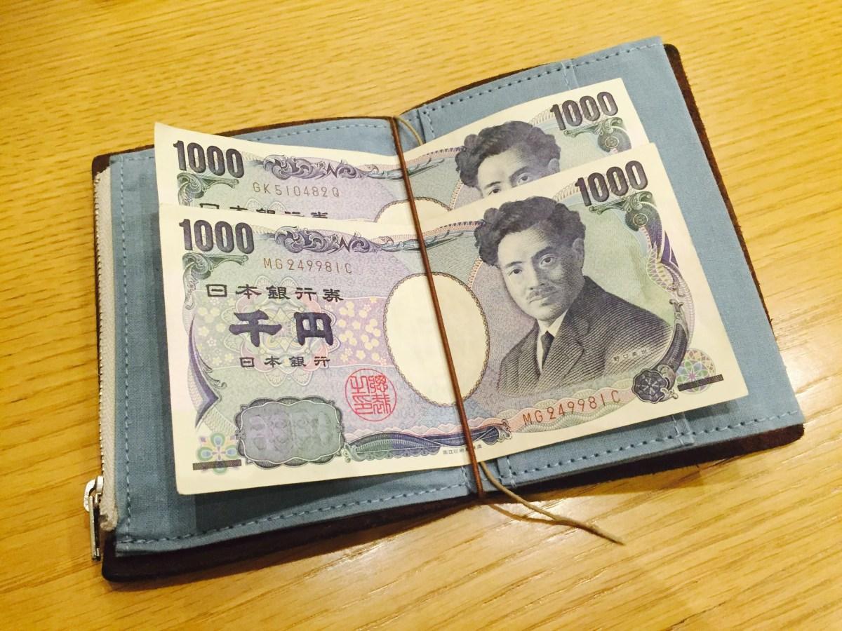 使わないトラベラーズノートをペーパークロスジッパーで財布として使ってみた。