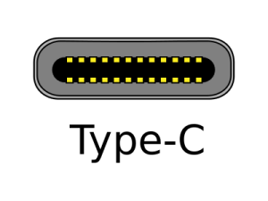 https://commons.wikimedia.org/wiki/File%3AUSB-Type-C.svg. Od Andreas Pietzowski [CC BY-SA 3.0 (http://creativecommons.org/licenses/by-sa/3.0)], prostřednictvím Wikimedia Commons