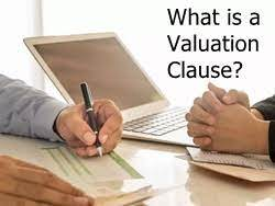 Valuation Clause when Family Money wants to leave