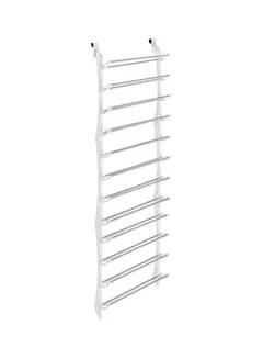 over the door shoe organizer rack white