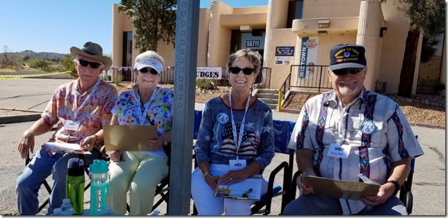 Grubstake Days 2017 Judges Bob and Pam RIches and Barbra and Bob Jorgensen