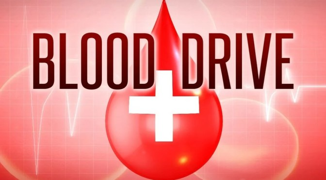 BLOOD DRIVE IN YUCCA VALLEY TOMORROW