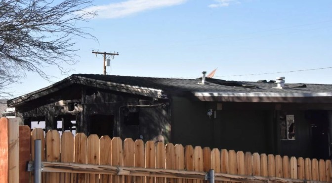 MOBILE HOME A TOTAL LOSS IN JOSHUA TREE FIRE