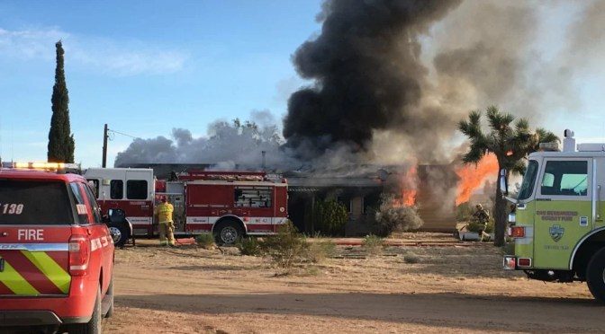 YUCCA MESA HOME DESTROYED IN MONDAY MORNING FIRE