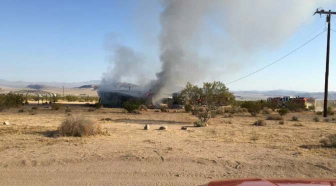 JOHNSON VALLEY WOMAN HOMELESS AFTER FIRE MONDAY MORNING