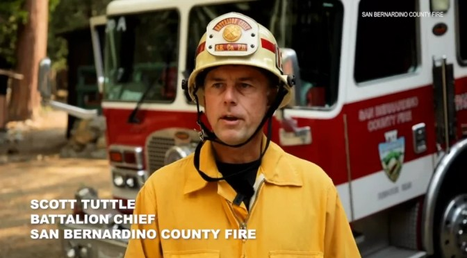 LOCAL BATTALION CHIEF TALKS ABOUT THE EL DORADO FIRE
