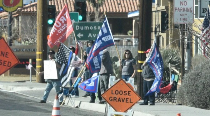 PRO-TRUMP DEMONSTRATION IN YUCCA VALLEY YESTERDAY
