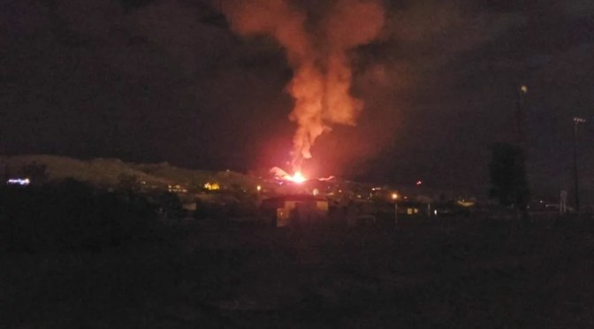 SPECTACULAR HOUSE FIRE LIGHTS UP THE SKY IN YUCCA VALLEY EARLY THIS MORNING